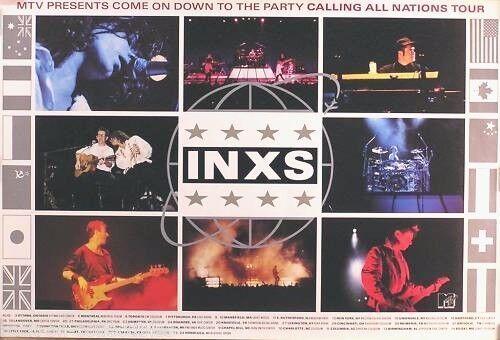 INXS 1988 MTV Calling All Nations Original Tour Promo Poster