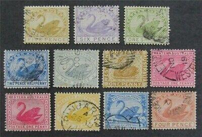 nystamps British Australia States Western Australia # 29//75 Used $50  L23x2718
