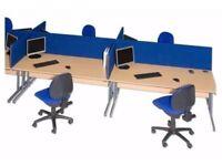 8 Blue Office Desk Dividers Screen - £25 each