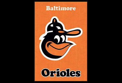 Baltimore Orioles RETRO 1970s LOGO CLASSIC MLB Baseball Team Logo Wall POSTER