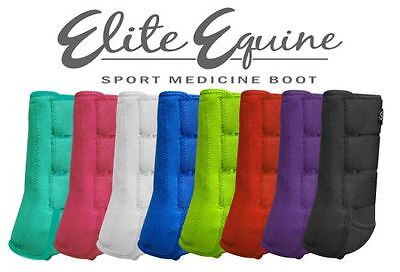 Showman SPLINT BOOTS Elite Equine Sport Medicine Full Horse Size (Set of 2)