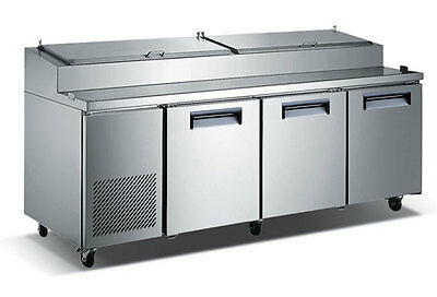 U-star Refrigerated Pizza Prep Table 69.5 W 24.0 Cu Ft Adcraft Uspz-3d