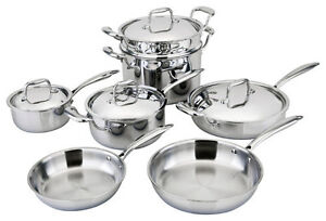 allply 11pc cookware set copper core multi ply 5