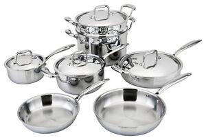 allply 11pc cookware set copper core multi ply 5