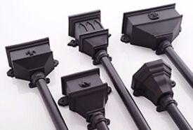 PVC Cast Iron Effect Gutter, Down pipe and Fittings Half Round, Ogee, Deep Flow - Gully Hopper head