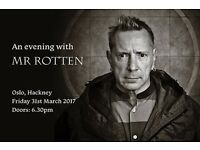 An Evening With Mr.Rotten John Lydon Q&A Book Launch Party Sex Pistols PiL Johnny Rotten