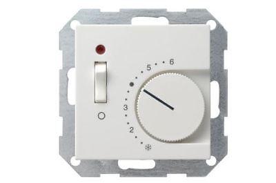 Gira 039203 Raumtemperaturregler 230/10 (4) A~ Öffner, Ausschalter,Kontrolllicht