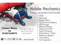 Mobile mechanics 24/7 in East London
