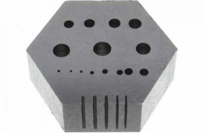 Hexagonal Riveting Anvil Jewelers Multi-Functional Bench Anvil Block Drilling