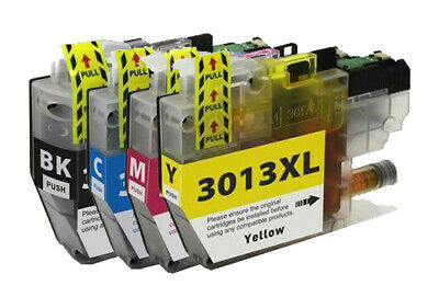4 PK Printer Ink Cartridges for LC3013 XL MFC-J497DW MFC-J69