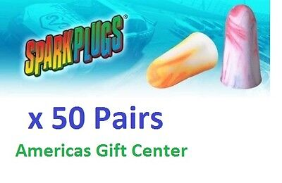 50 Earplugs Moldex Sparkplugs Individually Wrapped