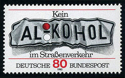 "Germany 1376, MNH. ""Don't Drink and Drive"", 1982"