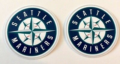 2x Seattle Mariners Car Window Bumper Laptop Wall Vinyl Stickers Decals  2 Seattle Mariners Car