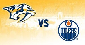 Oilers vs Predators - 2 extra wide aisle seats
