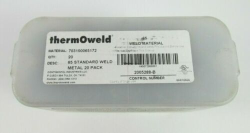 ThermOweld 65 20 Pack Standard Weld Material 703100065172