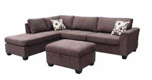 2 PC Chenille fabric Sectional Sofa w/ Reversible Chaise $998