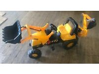 Kids JCB Tractor With Loader And Rear Excavator