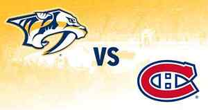4 billets nashville vs canadiens