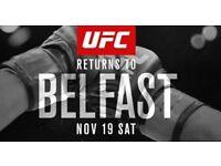 UFC BELFAST 4 tickets ( great seats )