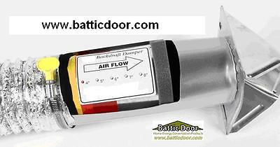 "Premium 4"" In-Line Duct Back Draft Damper Stop Drafts from Bath and Kitchen Fans"