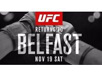 UFC Fight Night Belfast x3 Tickets - £380