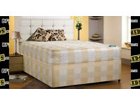 BRAND NEW - SEMI ORTHOPAEDIC DEEP QUILTED DOUBLE BED INCLUDING FREE DELIVERY