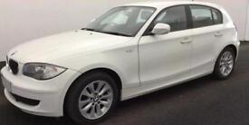 White BMW 118 2.0TD auto 2011 d ES 5 door 143 bhp FROM £33 PER WEEK !