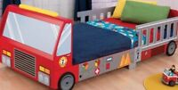 Fire truck Toddler bed with mattress included!