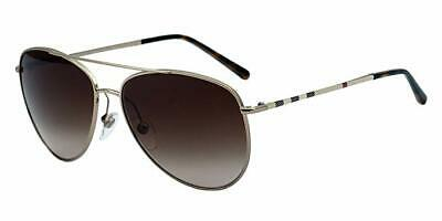Burberry B3072 1189/13 57mm Men's Aviator Sunglasses Gold NEW IN (Burberry Men Sunglasses)