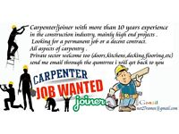 CARPENTER LOOK FOR A JOB ( WANTED )