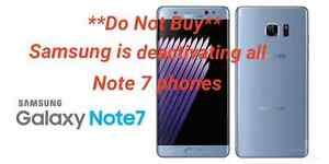 ** Note 7 phones are being shut down **Do not buy**