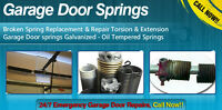 •••►Broken Spring, Cable, Roller - GARAGE DOOR REPAIR