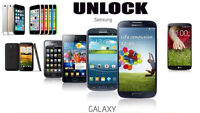 Samsung Galaxy S6/S5/S4/S3 Galaxy Note/2/3/4 and more Unlocking