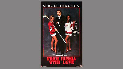 Usado, Rare Sergei Fedorov FROM RUSSIA WITH LOVE Detroit Red Wings 1992 Costacos POSTER segunda mano  Embacar hacia Argentina