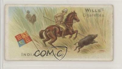 1901 Wills Sports of all Nations Tobacco India Pig Sticking #49 Single Stick Tobacco
