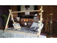House Bed TIPI Children's Wooden Bed 140 x 70 cm
