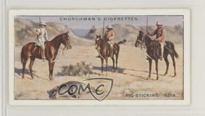 1929 Churchman's Sports & Games in Many Lands Tobacco Pig-Sticking India #11 Single Stick Tobacco
