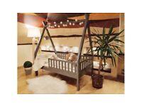Hausbett Mit Einer Barriere TIPI 5 Kinderbett 200 x 80 cm