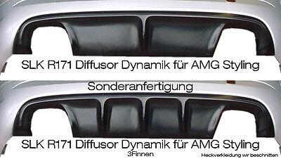Mercedes SLK R171 Diffusor Dynamik für AMG Stylingpaket Ausgang links & rechts