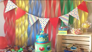 Sesame Street party decoration