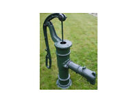 Water pump garden feature