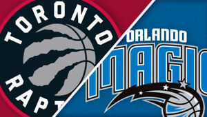 2-4 Raptors v Magic Playoff Tickets - S114 R24 *aisle* - GAME 5