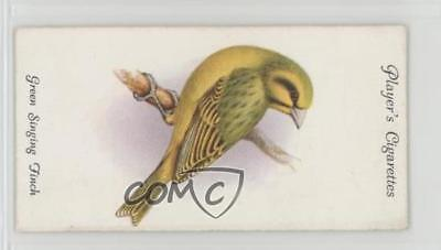 1933 Player's Aviary and Cage Birds Tobacco Base 45 Green Singing Finch Card 2h8