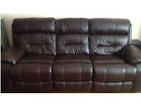 Furniture Village Moreno Leather 3 Seater Power Recliner Sofa