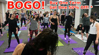 BOGO Yoga. BUY ONE YOGA with Cia! term GET ONE term at 50% off