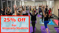University Students get 25% off all YOGA with Cia! Yoga Classes