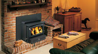 Wood burning Fireplace - built-in