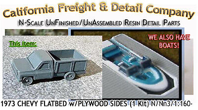 1973 CHEVY FLATBED PICKUP w/PLYWOOD SIDES KIT California Freight & Details *NEW*