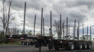 2015   49' Deloupe Quad Steering Axle Log Trailer for Rent