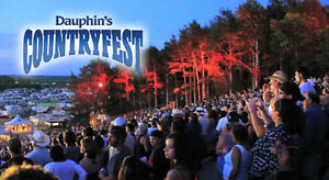 DAUPHIN'S COUNTRY FEST TICKET